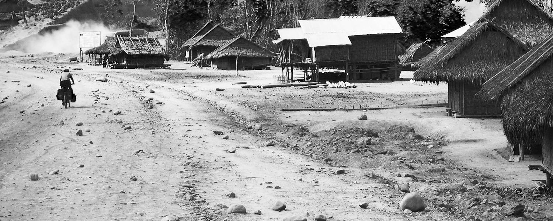 Fietsen in Laos een knipsel uit een reisdagboek